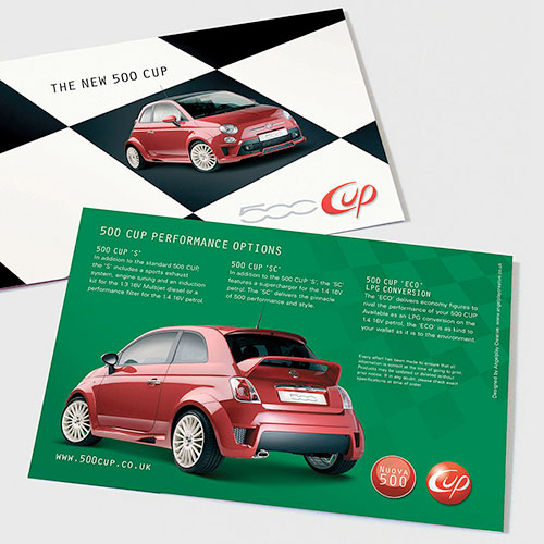 FIAT 500 Cup special edition mini brochure for FIAT UK.
