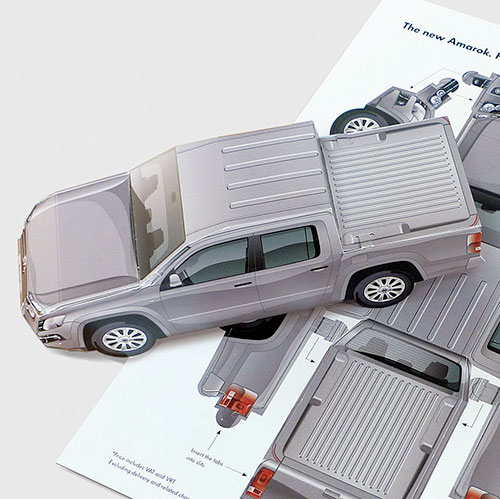 Folded model Amarok for Volkswagen Commercial Vehicles Ireland.