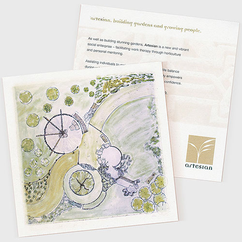 Information card for RHS winning garden designer.