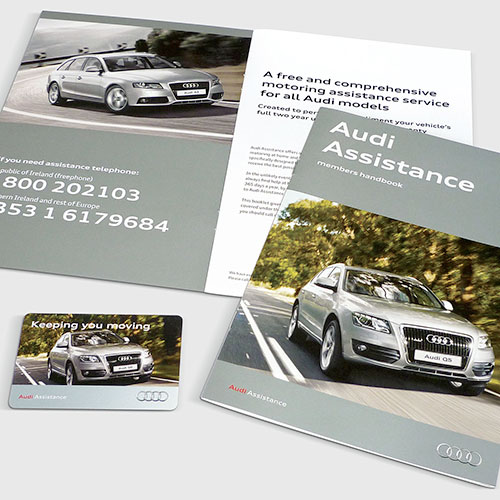Assistance materials for Audi Ireland.