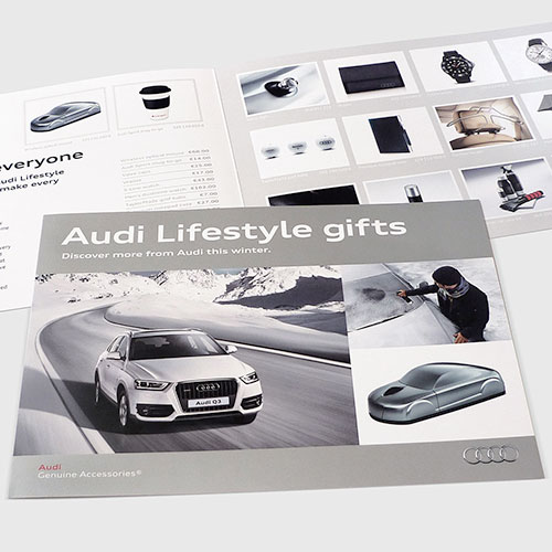 Merchandise leaflet for Audi Ireland.