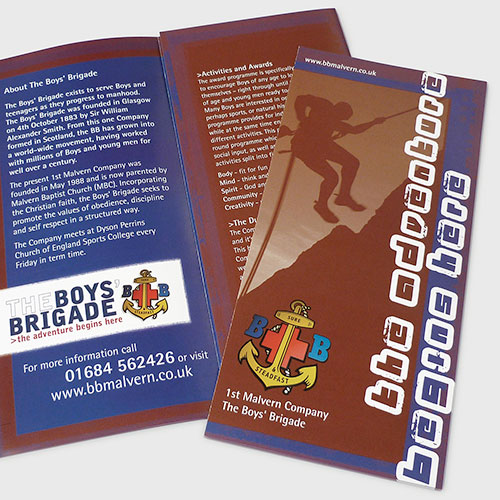 Information leaflet for The Boys' Brigade.