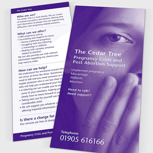 Information leaflet for The Cedar Tree.