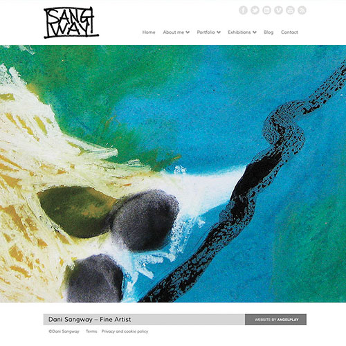 Artists website for Dani Sangway.