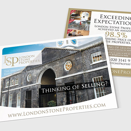Sales leaflets for London Stone Properties.