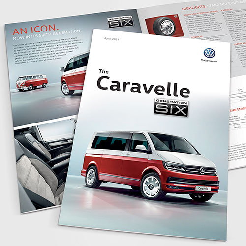 Caravelle Generation Six brochure for Volkswagen Commercial Vehicles UK.