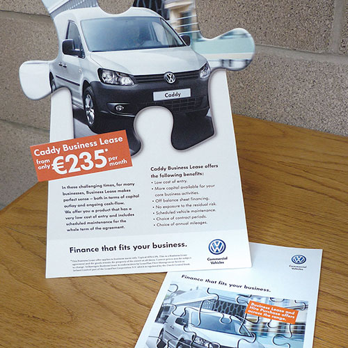 Finance campaign POS for Volkswagen Commercial Vehicles Ireland.