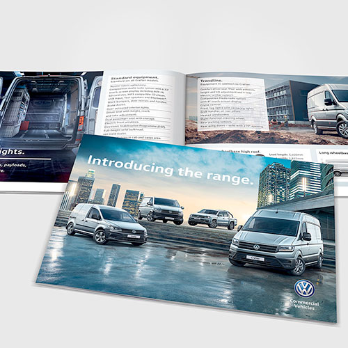 Range brochure for Volkswagen Commercial Vehicles Ireland.