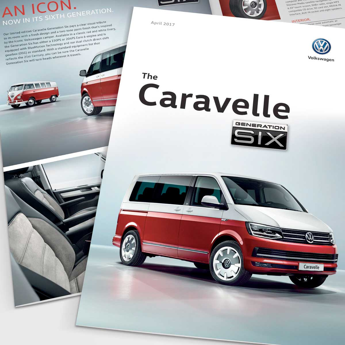 Caravelle Generation Six brochure for Volkswagen Commercial Vehicles UK